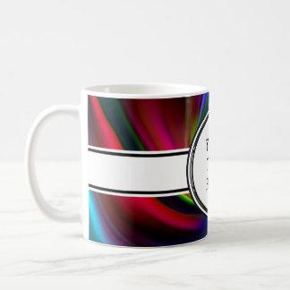 Abstrakt bakgrund röra sig i spiral mjukt I + din Vit Mugg