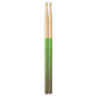 Abstrakt black&green drumsticks trumpinnar