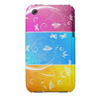 Abstrakt blackberry curvefodral för blom- design Case-Mate iPhone 3 cases