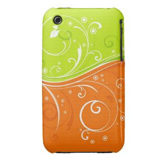 Abstrakt blackberry curvefodral för blom- design iPhone 3 case