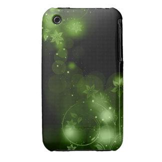 Abstrakt blackberry curvefodral för blom- design iPhone 3 fodral