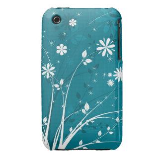 Abstrakt blackberry curvefodral för blom- design iPhone 3 skydd