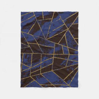 Abstrakt blått #941 fleecefilt