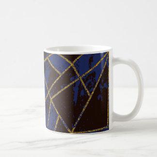 Abstrakt blått #941 kaffemugg