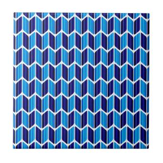 Abstrakt blått kakelplatta
