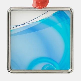 Abstrakt blåttFractalorientering Julgransprydnad Metall