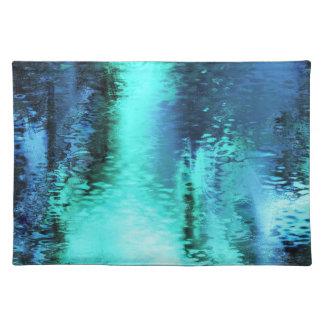Abstrakt blåttreflexion bordstablett