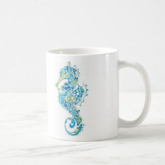 Abstrakt blåttSeahorse Kaffemugg