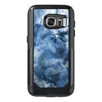 Abstrakt blåttvattenfärgbakgrund OtterBox samsung galaxy s7 skal