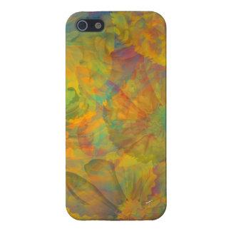 Abstrakt blom- fodral för CollageiPhone 5 iPhone 5 Skal