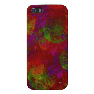 Abstrakt blom- fodral för CollageiPhone 5 iPhone 5 Skydd