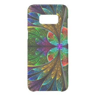 Abstrakt blom- målat glassmönster uncommon samsung galaxy s8 skal