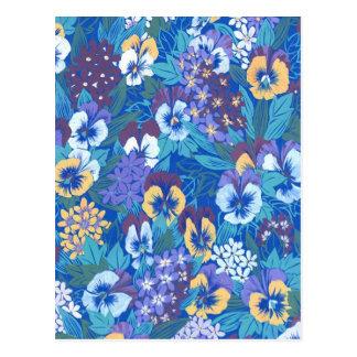 Abstrakt blom- Pansy för vintage Vykort