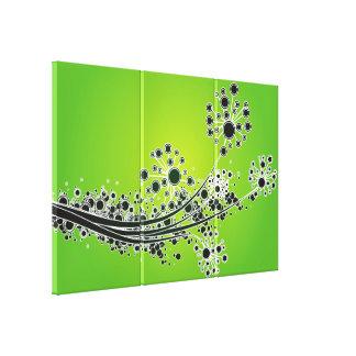Abstrakt blomma-Limefrukt för futuristiska Canvastryck