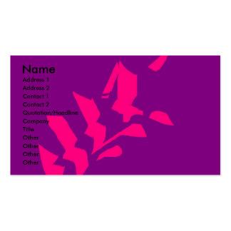 abstrakt blomma set av standard visitkort