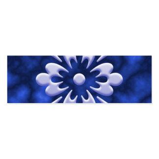 Abstrakt blomma visitkort mallar