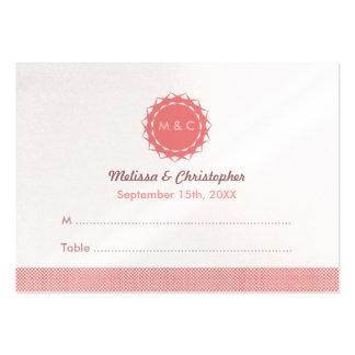 Abstrakt blommabröllopeskort set av breda visitkort