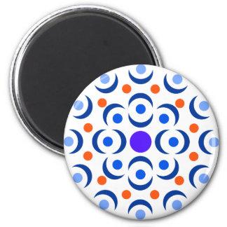 Abstrakt blommamagnet magnet