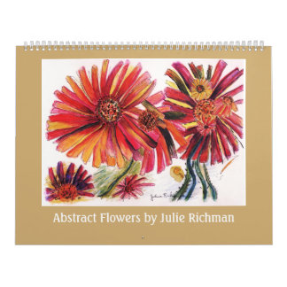 Abstrakt blommar vid Julie Richman Kalender