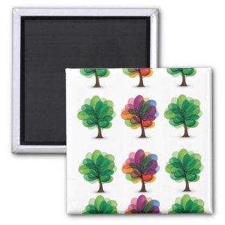 Abstrakt blommas träd magnet