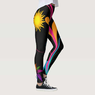 abstrakt blommigt 51 leggings