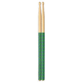 abstrakt blue&green drumsticks trumpinnar