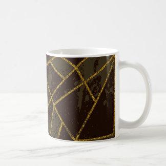 Abstrakt brunt #941 kaffemugg