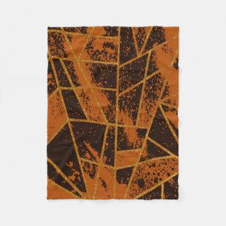 Abstrakt brunt #944 fleecefilt