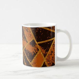 Abstrakt brunt #944 kaffemugg