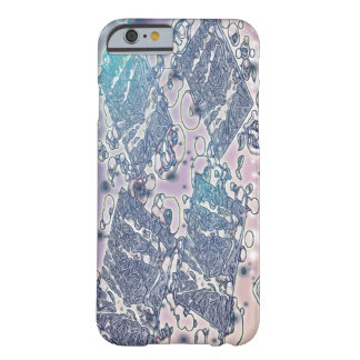 Abstrakt bubblar i lappar barely there iPhone 6 skal