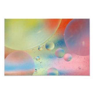 Abstrakt bubblar konsttrycket fotografiska tryck
