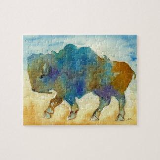 Abstrakt buffelpussel pussel