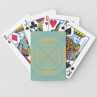 Abstrakt Bullseyemönster Spelkort