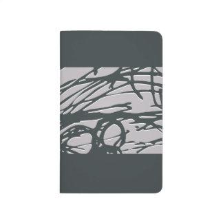Abstrakt bygga bo journalen i grå och ljus gult anteckningsbok
