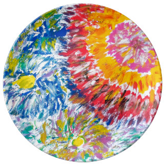 Abstrakt Chrysanthemumsporslin pläterar Porslinstallrik
