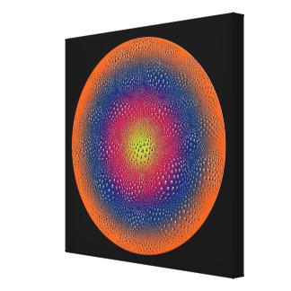 Abstrakt cirklar Digital konst Canvastryck