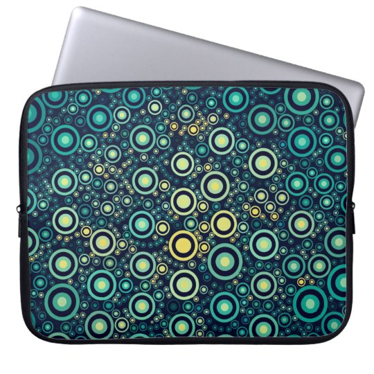 Abstrakt cirklar laptop sleeve