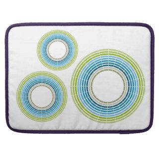 Abstrakt cirklar regnbågen MacBook pro sleeves