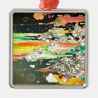 Abstrakt dagligt stänk målar julgransprydnad metall