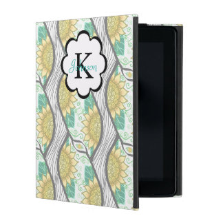Abstrakt dekorativ solros Personalizable iPad Skal