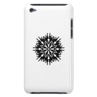 Abstrakt design i svart iPod touch case