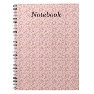 Abstrakt designanteckningsbok anteckningsbok med spiral