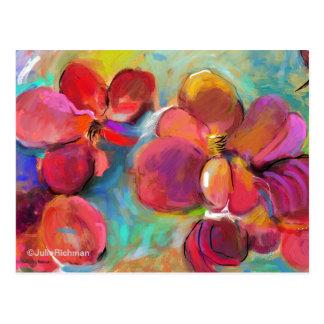 Abstrakt Digital blomma   vykort 6