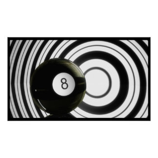 Abstrakt Eightball Poster