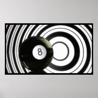 Abstrakt Eightball Poster