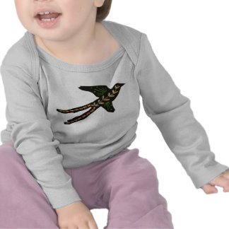 Abstrakt Embroidered Scissor-tailed Flycatcher Tee Shirt
