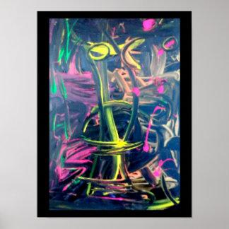 abstrakt en poster