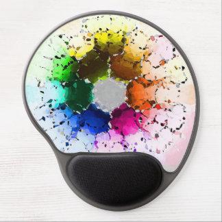 Abstrakt färg rullar gel musmatta