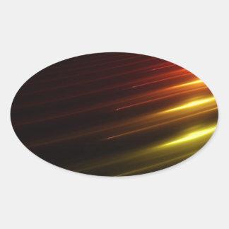 Abstrakt färgar strålen av ljus ovalt klistermärke