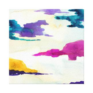 Abstrakt färgglad akvarellskottkanfas canvastryck